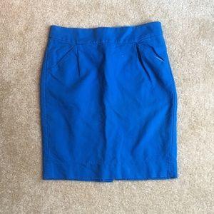 J. Crew blue The Pencil Skirt size 4